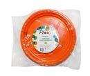 Тарелка пластмасс д.205 мм Конфетти оранж,сирен 12 шт.1*80