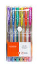 Ручка гелевая (Набор) 6цв TZ-144 6 шт. металик с блестк. *775