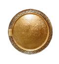 Поднос Д.25 см картон золото Леонардо